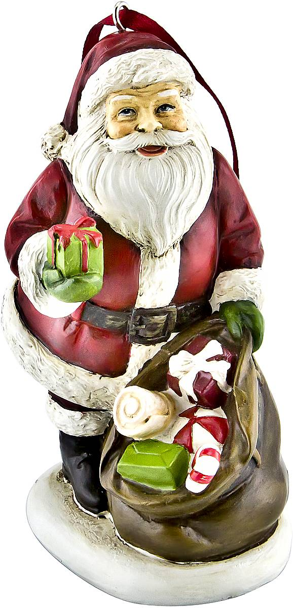 Украшение новогоднее подвесное Mister Christmas Дед Мороз, высота 10 см. TM-A-2 набор подсвечников mister christmas дед мороз высота 22 5 см 2 шт