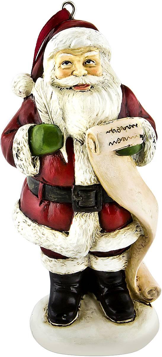 Украшение новогоднее подвесное Mister Christmas  Дед Мороз , высота 10 см. TM-A-3 - Украшения