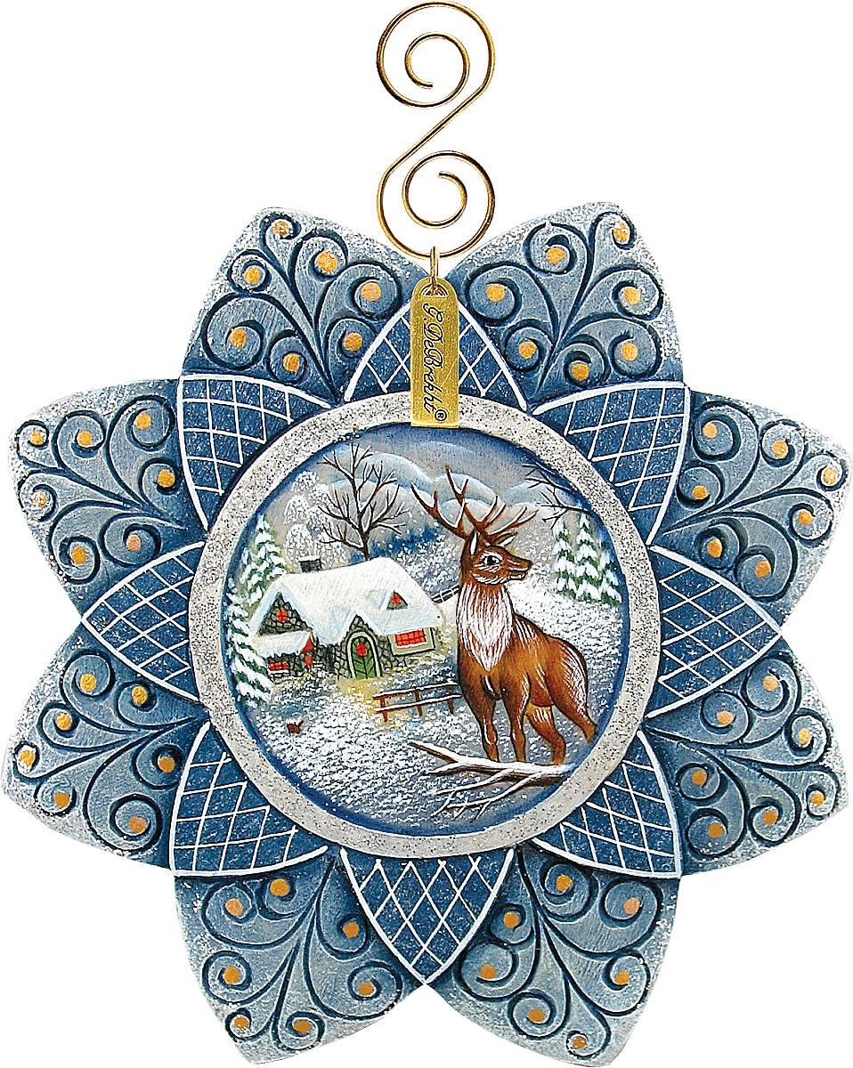 Украшение новогоднее подвесное Mister Christmas Снежинка, высота 10 смUS 610219Новогоднее подвесное украшение Mister Christmas Снежинка прекрасно подойдет для праздничного декора новогодней ели. Украшение выполнено из полистоуна. Для удобного размещения на елке предусмотрена петелька. Елочная игрушка - символ Нового года. Она несет в себе волшебство и красоту праздника. Создайте в своем доме атмосферу веселья и радости, украшая новогоднюю елку нарядными игрушками, которые будут из года в год накапливать теплоту воспоминаний.