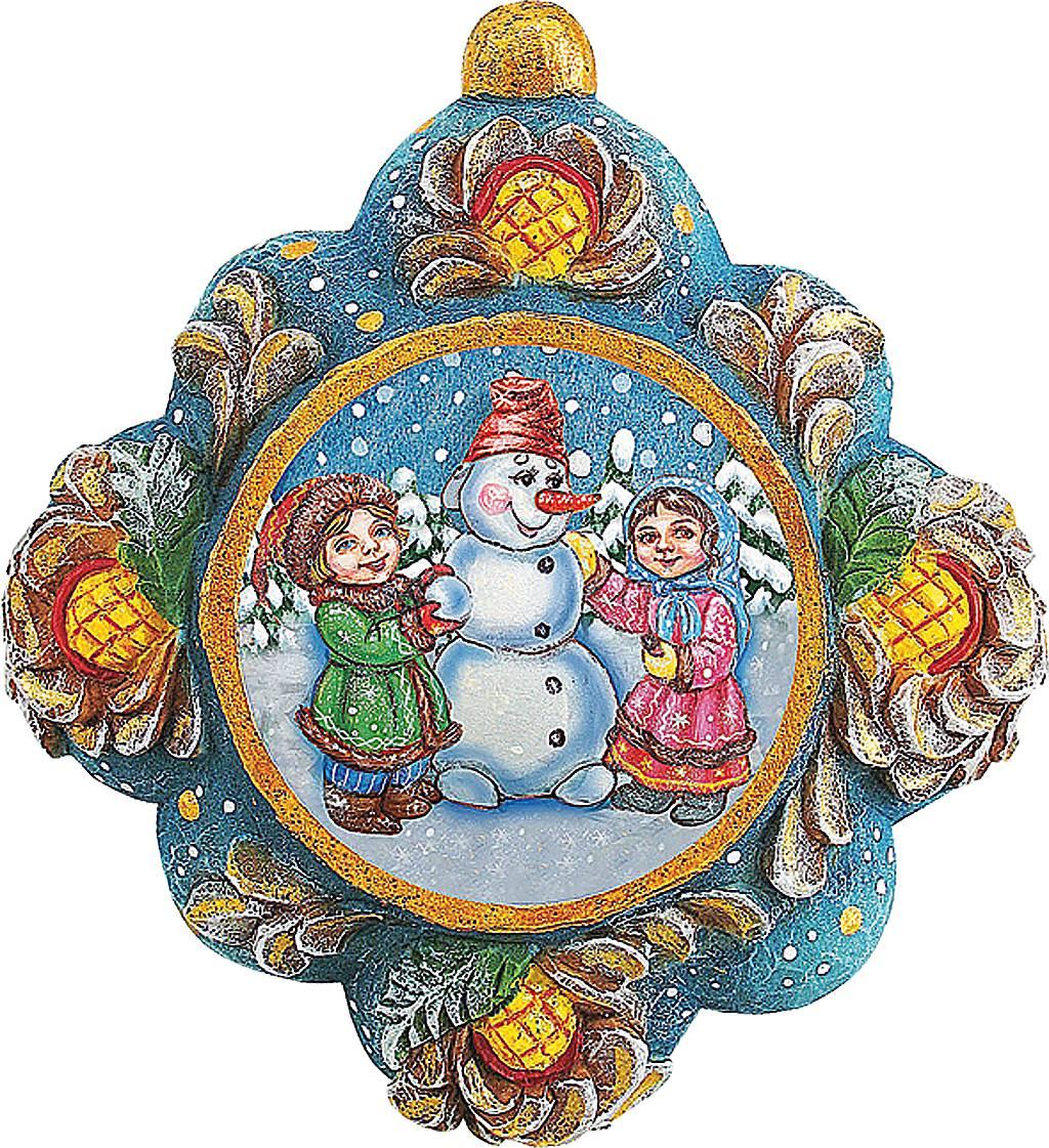Украшение новогоднее подвесное Mister Christmas Детишки слепили снеговика, коллекционное, высота 10 смUS 6102522Коллекционное украшение Mister Christmas Детишки слепили снеговика прекрасно подойдет для праздничного декора вашего дома. Изделие выполнено из полистоуна и оснащено креплением для подвешивания на елку. Новогодние украшения несут в себе волшебство и красоту праздника. Они помогут вам украсить дом к предстоящим праздникам и оживить интерьер. Создайте в доме атмосферу тепла, веселья и радости, украшая его всей семьей.Кроме того, такая игрушка станет приятным подарком, который надолго сохранит память этого волшебного времени года.Высота украшения: 10 см.
