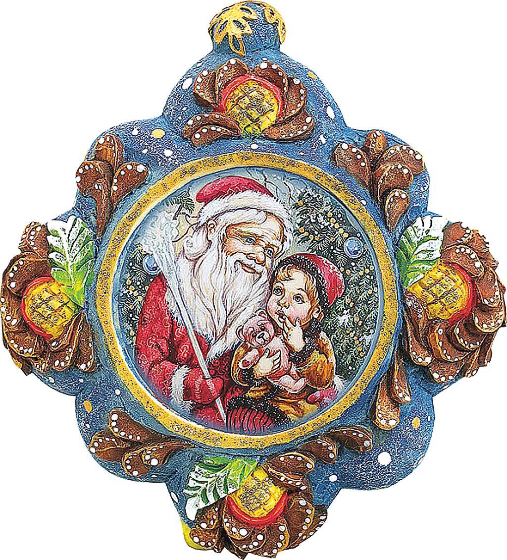Украшение новогоднее подвесное Mister Christmas Дед Мороз с малышом, коллекционное, высота 10 смUS 6102543Коллекционное украшение Mister Christmas Дед Мороз с малышом прекрасно подойдет для праздничного декора вашего дома. Изделие выполнено из полистоуна и оснащено креплением для подвешивания на елку. Новогодние украшения несут в себе волшебство и красоту праздника. Они помогут вам украсить дом к предстоящим праздникам и оживить интерьер. Создайте в доме атмосферу тепла, веселья и радости, украшая его всей семьей.Кроме того, такая игрушка станет приятным подарком, который надолго сохранит память этого волшебного времени года.Высота украшения: 10 см.