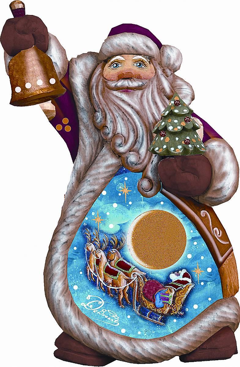Фигурка новогодняя декоративная Mister Christmas Дед Мороз, коллекционная, высота 10 см набор подсвечников mister christmas дед мороз высота 22 5 см 2 шт