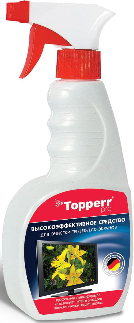 Спрей Topperr для ухода за экранами ЖК, LCD и плазмы, 500 мл спрей topperr для чистки духовок и грилей 500 мл