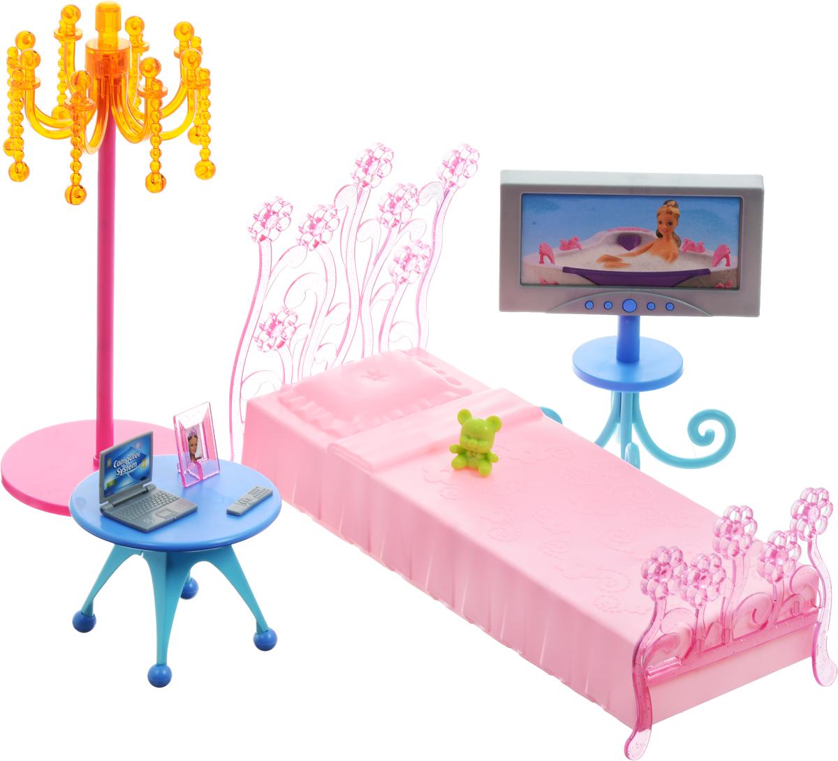 1TOY Мебель для кукол Спальня мебель для кукол кабинет сонечки