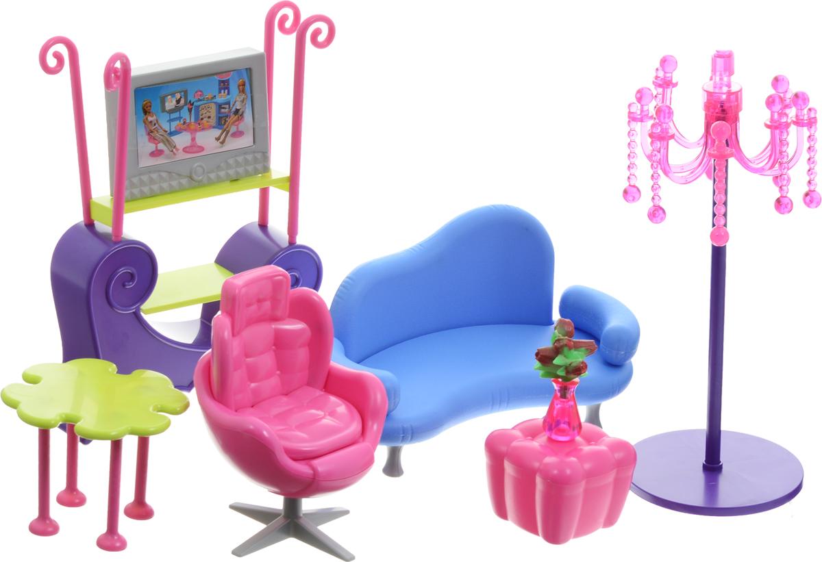 1TOY Набор мебели для кукол Гостиная Красотка красотка набор мебели для кукол гостиная с телевизором т52114 1toy