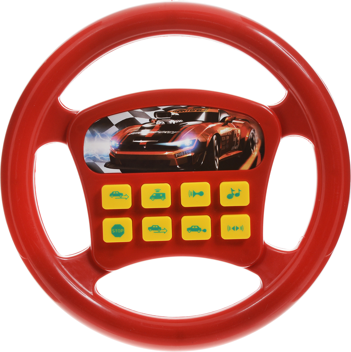 Играем вместе Игрушечный руль Машина цвет красный музыкальный руль купить