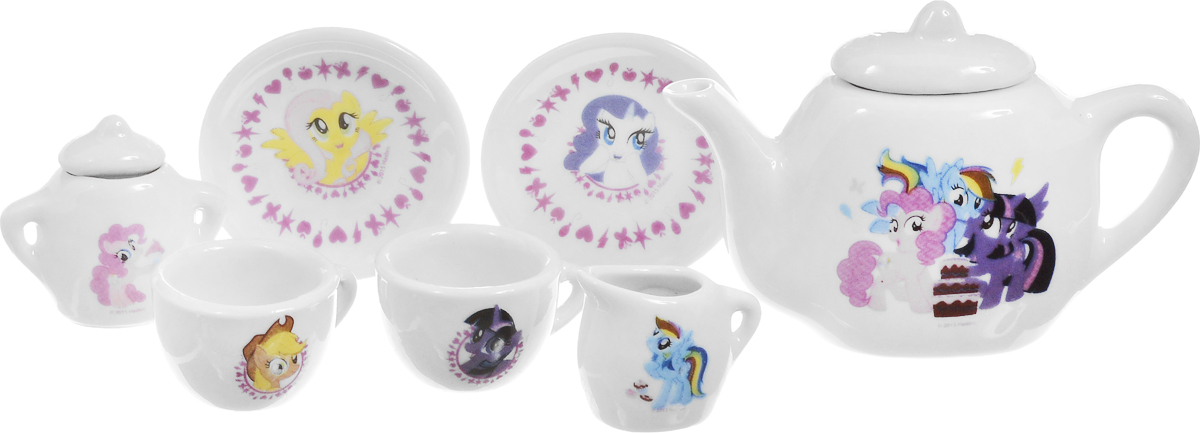 Играем вместе Игрушечный набор посуды My Little Pony цвет белый 7 предметов
