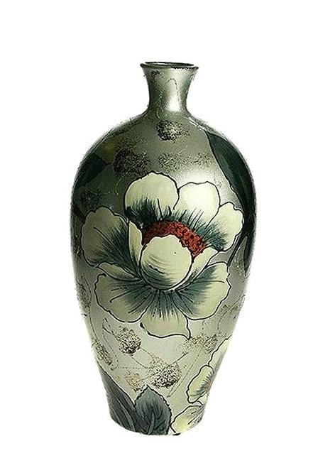 Ваза Русские Подарки Нежный пион, высота 36 см. 214519 ваза русские подарки винтаж высота 31 см 123710