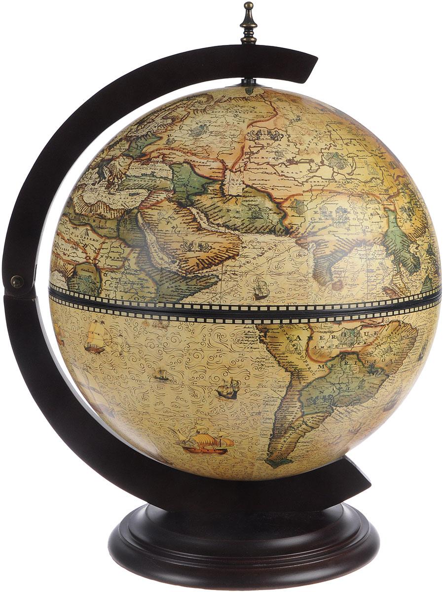 Глобус-бар настольный Морские просторы, диаметр 41 см глобус бар на изогнутых ножках элегант