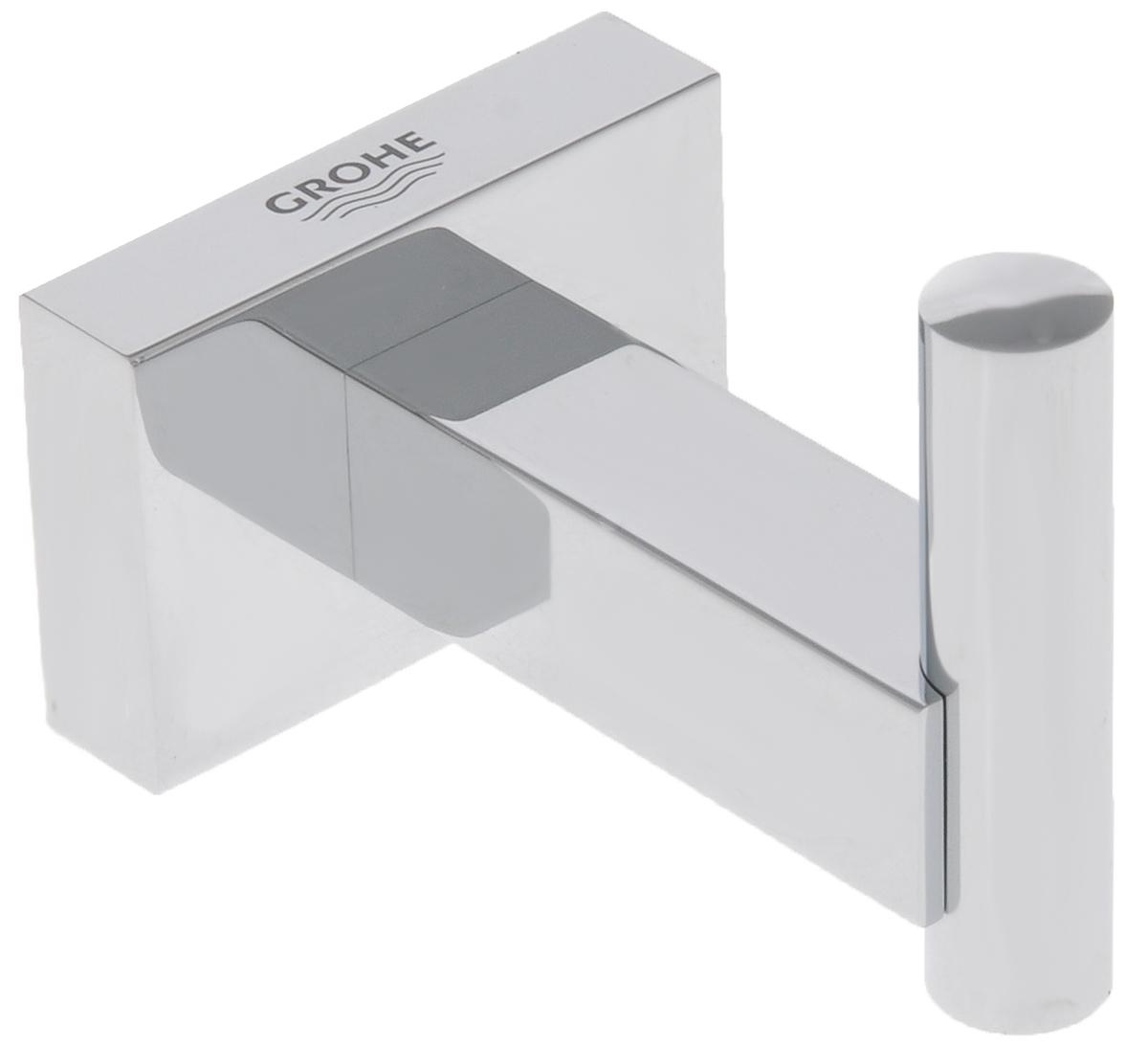 Крючок для банного халата Grohe Essentials Cube40511001С помощью прочного и стильного крючка Grohe EssentialsCube у вашего уютного банного халата появится в ваннойкомнате свое почетное место, где вы всегда сможете его найти,как только он вам потребуется. Этот аксессуар с элегантнымхромированным покрытием станет завершающим штрихом винтерьере ванной комнаты.