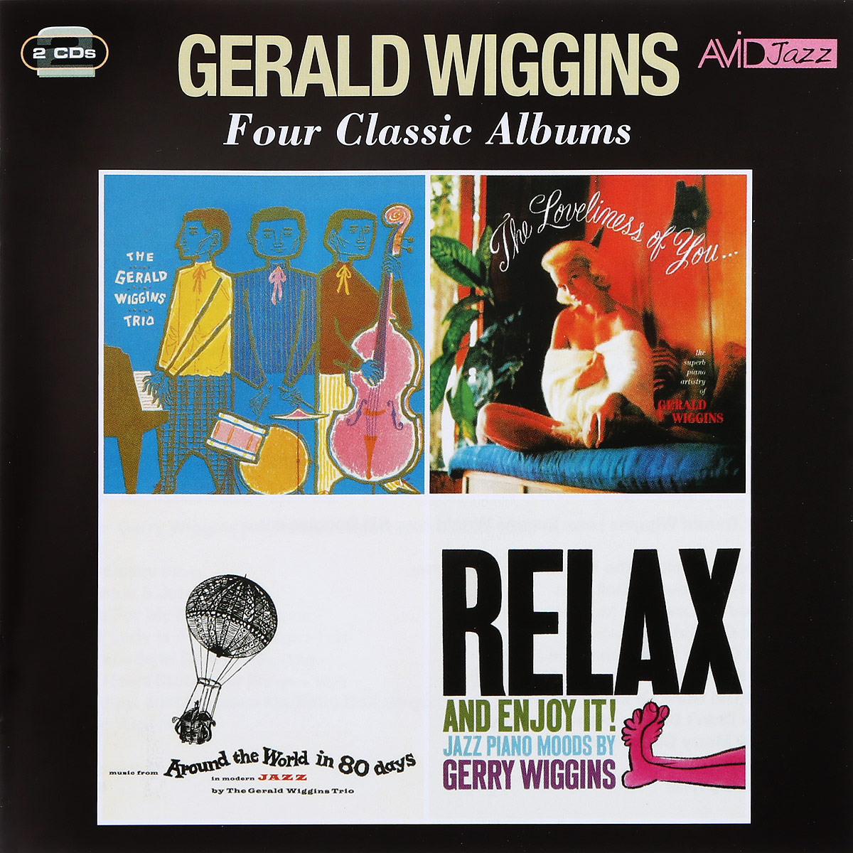 Геральд Виггинс,The Gerald Wiggins Trio  Avid Jazz. Gerald Wiggins. Four Classic Albums (2 CD) avid digidesign