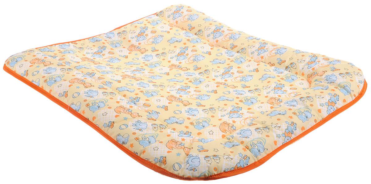 Фея Доска пеленальная на комод цвет желтый оранжевый -  Позиционеры, матрасы для пеленания
