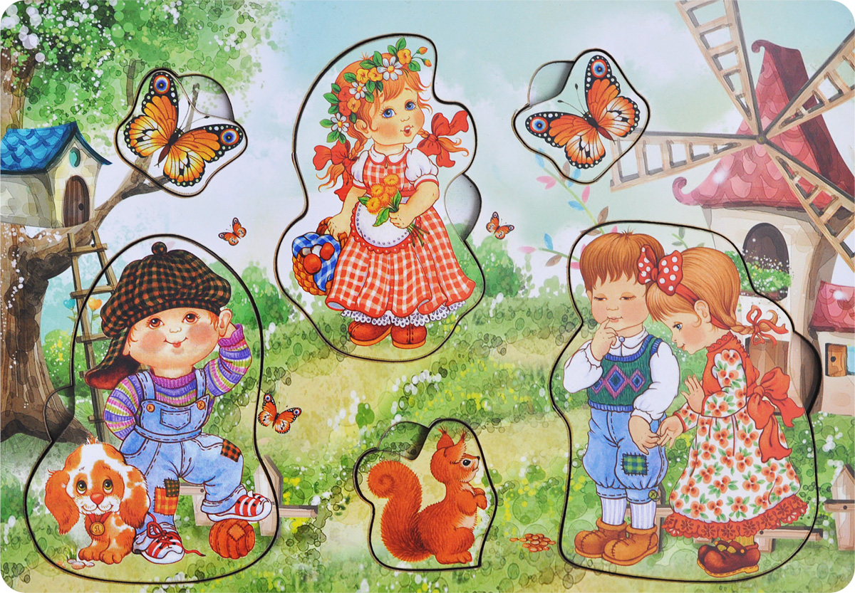 Фабрика Мастер игрушек Рамка-вкладыш Дети на природе фабрика мастер игрушек рамка вкладыш водоем