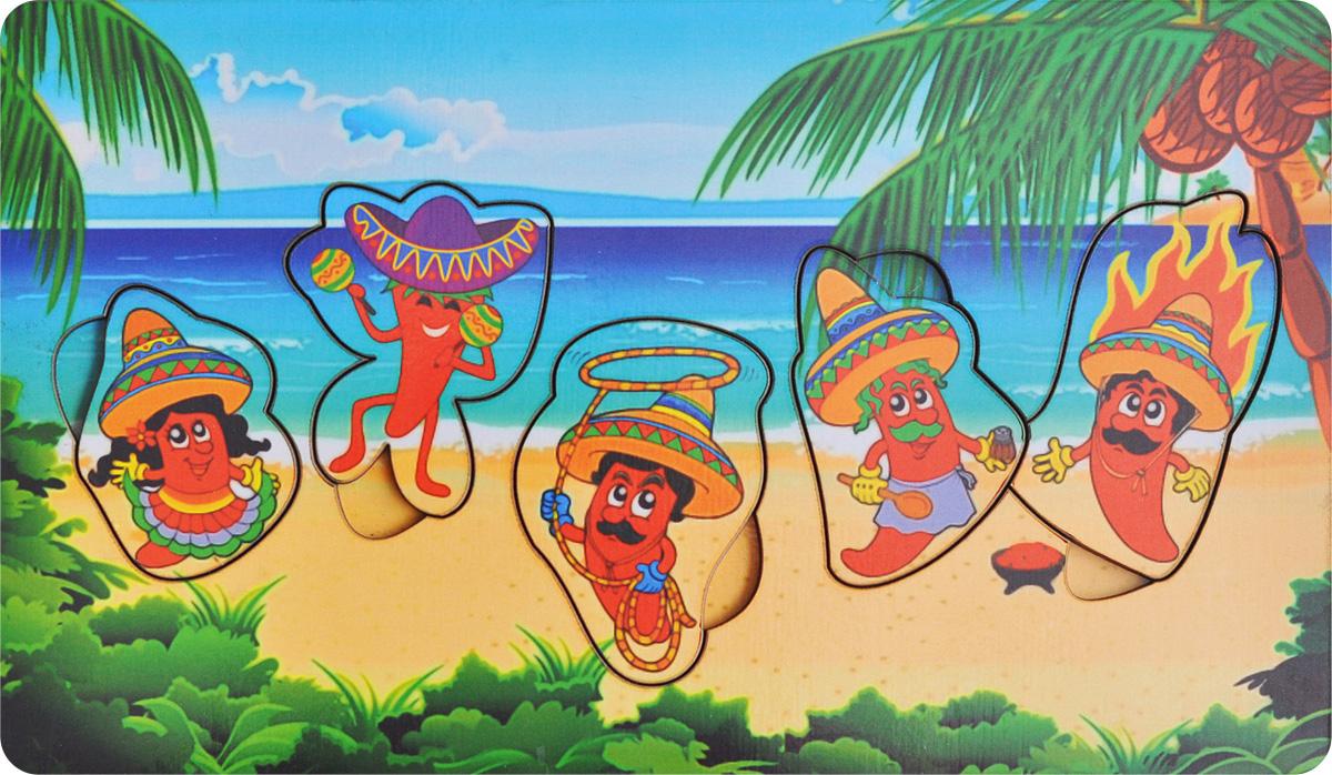 Фабрика Мастер игрушек Рамка-вкладыш Мексика фабрика мастер игрушек рамка вкладыш водоем