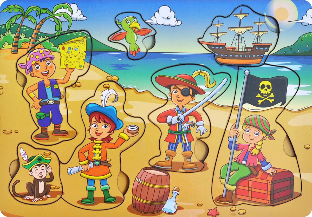 Фабрика Мастер игрушек Рамка-вкладыш Дети-пираты фабрика мастер игрушек рамка вкладыш водоем