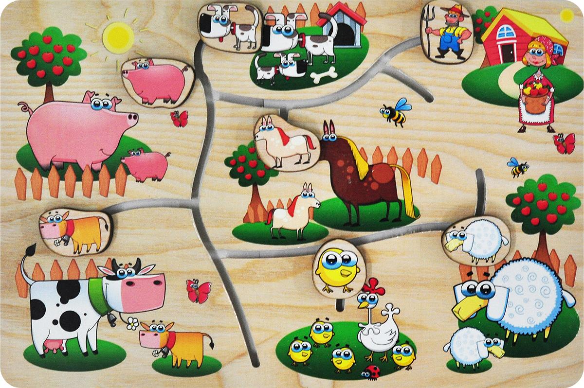 Фабрика Мастер игрушек Обучающая игра На ферме корвет обучающая игра удивляйка 1