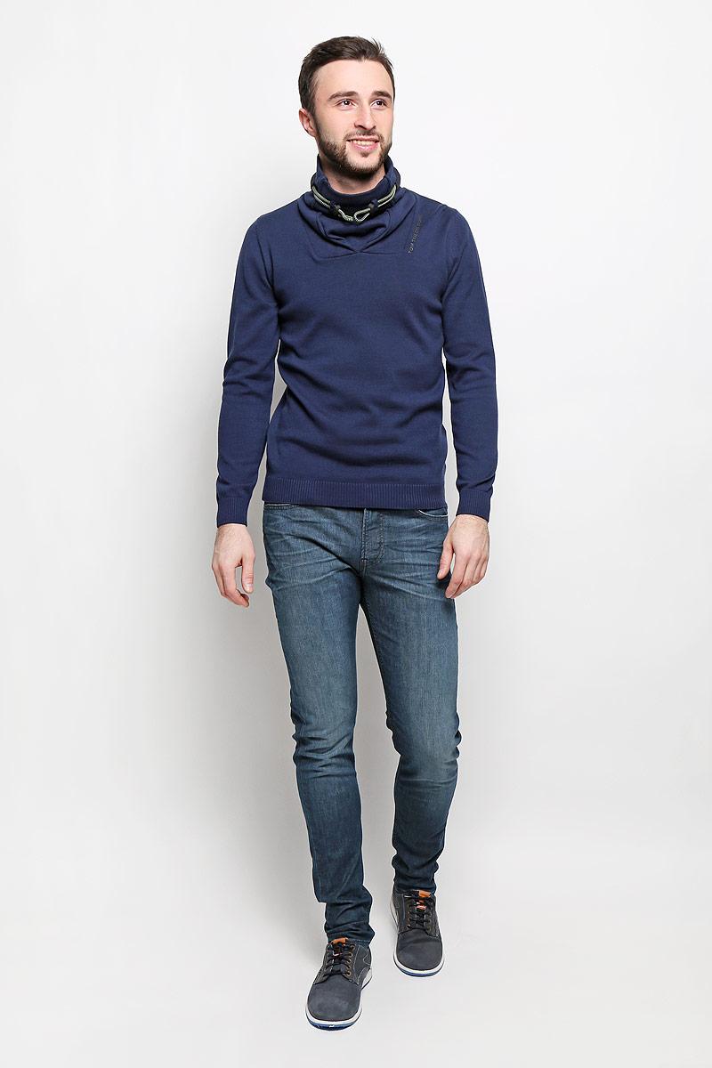 Джемпер мужской Tom Tailor, цвет: темно-синий. 3022118.62.10_6811. Размер XL (52) джемпер мужской tom tailor denim цвет бордовый 3022104 01 12 4257 размер xl 52