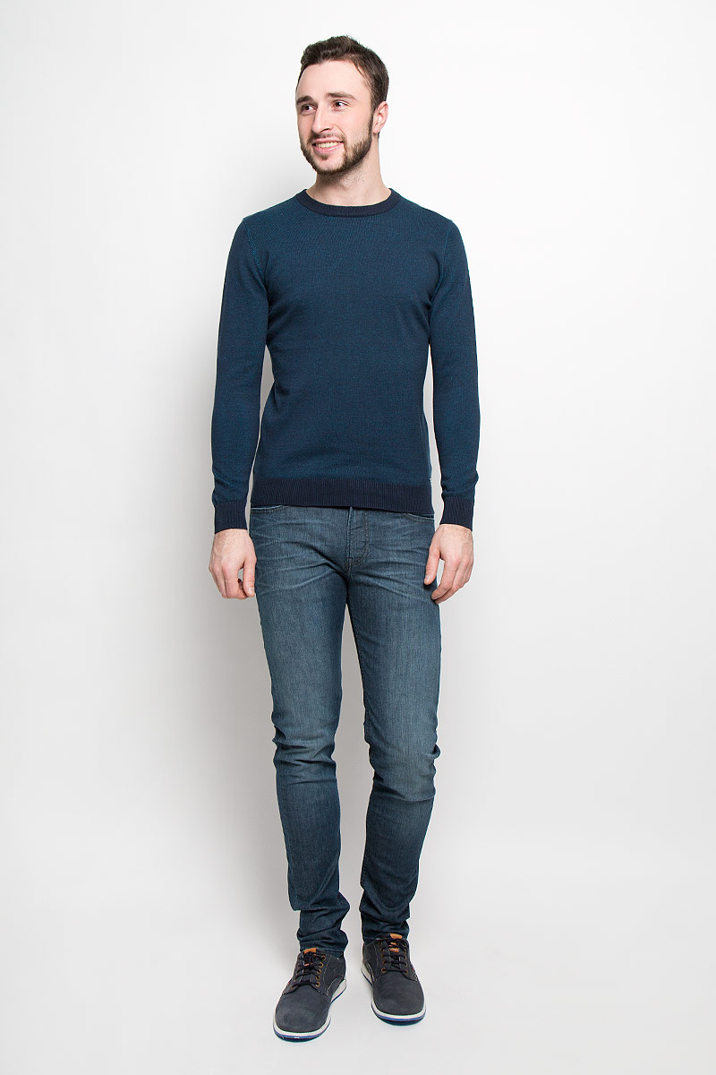 Джемпер мужской Tom Tailor, цвет: темно-синий. 3021667.00.10_6012. Размер L (50)