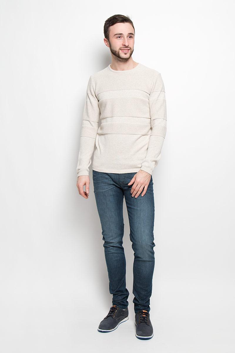 цена Джемпер мужской Tom Tailor Denim, цвет: бежевый. 3022034.62.12_2608. Размер XXL (54) онлайн в 2017 году