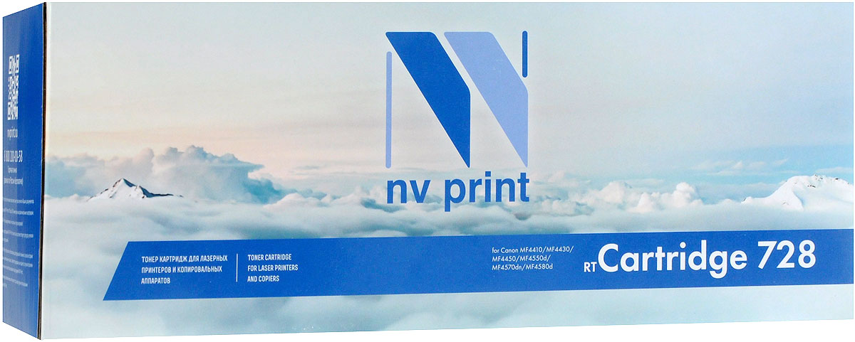 NV Print NV-728, Black тонер-картридж для Canon i-Sensys MF4410/MF4430/MF4450/MF4550d/MF4570d/MF4580d мфу лазерный canon i sensys mf3010