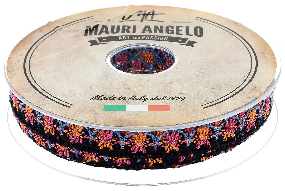 Лента кружевная Mauri Angelo, цвет: голубой, черный, оранжевый, 1,8 см х 20 м. MR8849/MC/10MR8849/MC/10Декоративная кружевная лента Mauri Angelo выполнена из высококачественного хлопка и ацетатного волокна. Кружево применяется для отделки одежды, постельного белья, а также в оформлении интерьера, декоративных панно, скатертей, тюлей, покрывал. Главные особенности кружева - воздушность, тонкость, эластичность, узорность.Такая лента станет незаменимым элементом в создании рукотворного шедевра.