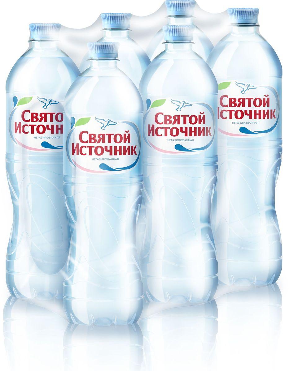 СвятойИсточник вода природная питьевая негазированная, 6 шт по 1 л вода святой источник без газа 1 5 л 6шт