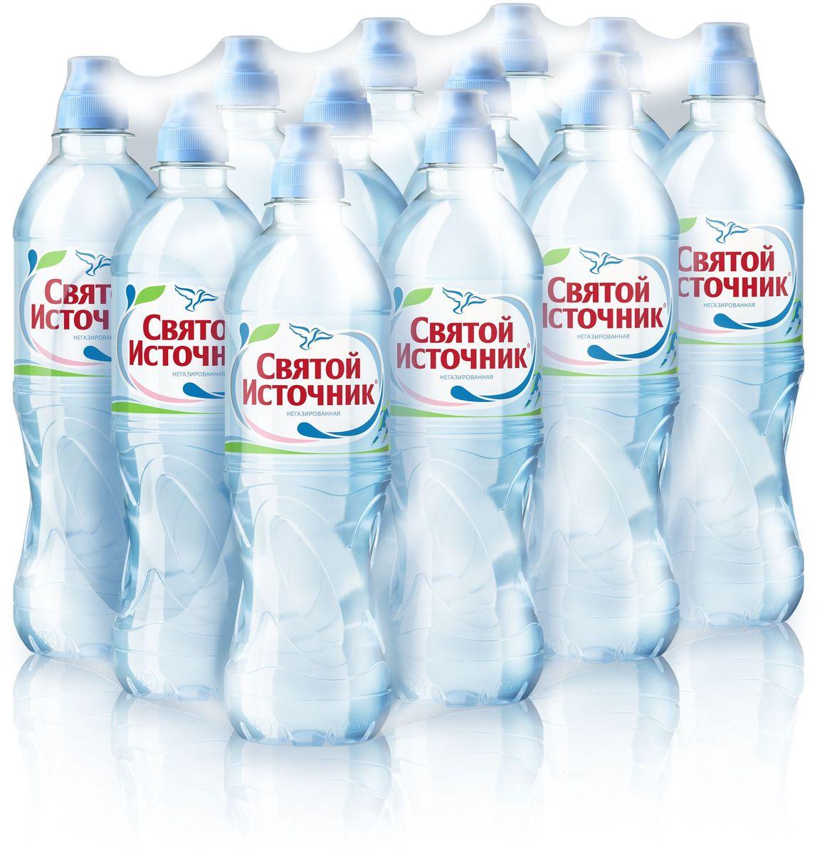 СвятойИсточник вода Спортприродная питьевая негазированная, 12 шт по 0,5 л вода святой источник без газа 1 5 л 6шт