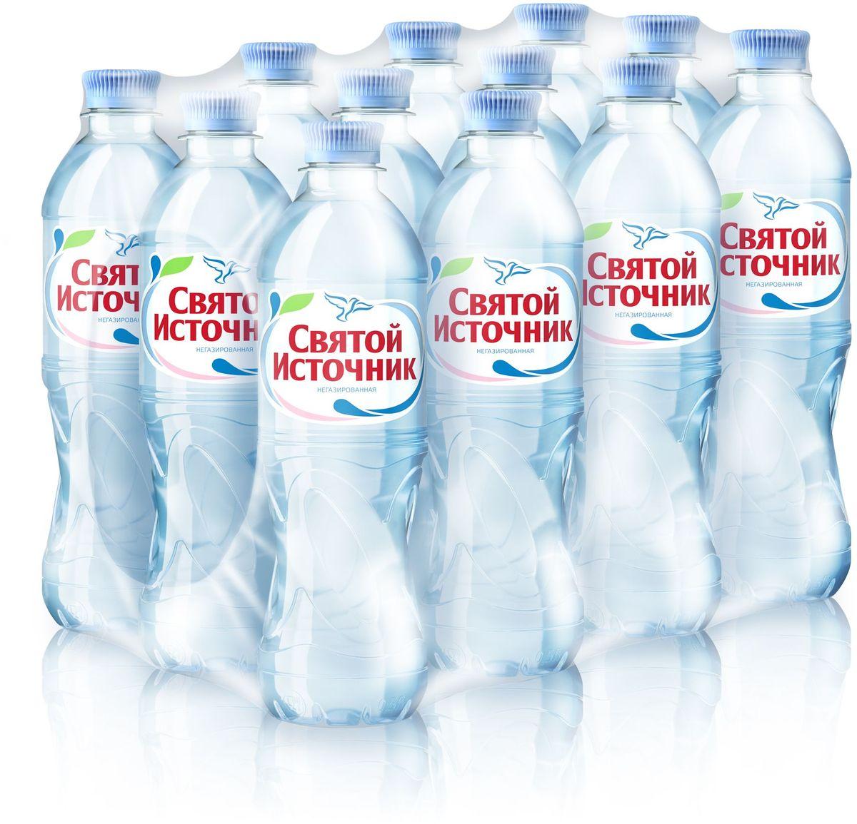 СвятойИсточник водаприродная питьевая негазированная, 12 штук по 0,5 л вода святой источник без газа 1 5 л 6шт