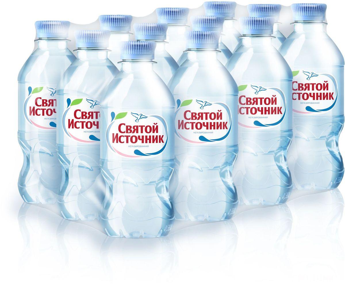 СвятойИсточник водаприродная питьевая негазированная, 12 шт по 0,33 л вода святой источник без газа 1 5 л 6шт