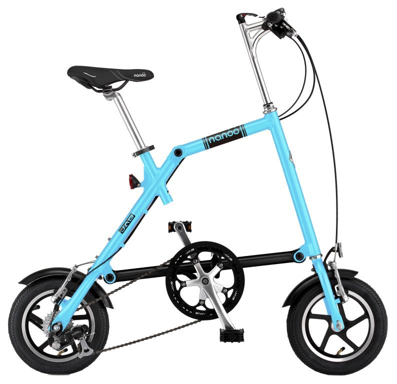 """Велосипед складной """"Nanoo-127"""", 7 скоростей, цвет: синий"""