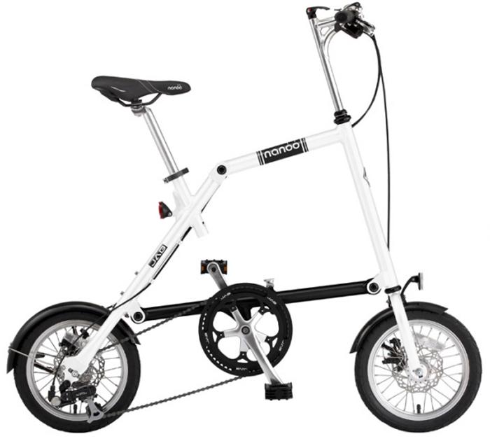 """Велосипед складной """"Nanoo-148"""", 8 скоростей, цвет: белый"""