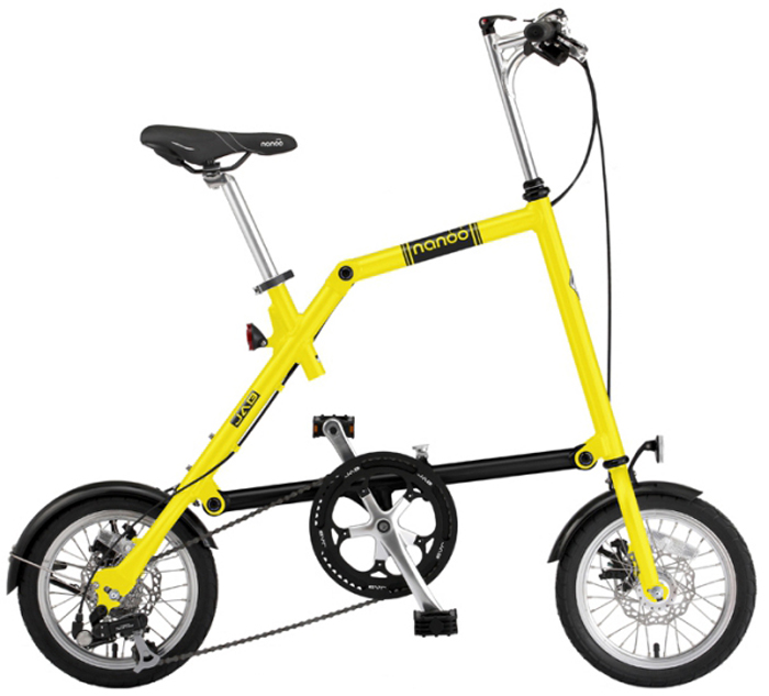 Велосипед складной Nanoo-148, 8 скоростей, цвет: желтыйNANOO-148_15_ylwНовый, удивительный, компактный, забавный, маневренный и шустрый велосипед - созданный для покорения безумной жизни мегаполиса совсем скоро может стать вашим! Благодаря последним разработкам, уникальной конструкции и продуманному итальянскому дизайну, вы можете добраться в любую точку города быстро, легко и стильно! Тысячи европейцев уже оценили эту потрясающую новинку. Теперь и у вас есть такая возможность! Рама: алюминиевая, колеса диаметра 14Руль: алюминиевый, складной регулируемыйСедло: анатомическое муж/женТрансмиссия: 8-скоростная Тормоза: дисковые механическиеПедали: складныеПодножка: алюминиевая на пружинеВес: 12,5 кг