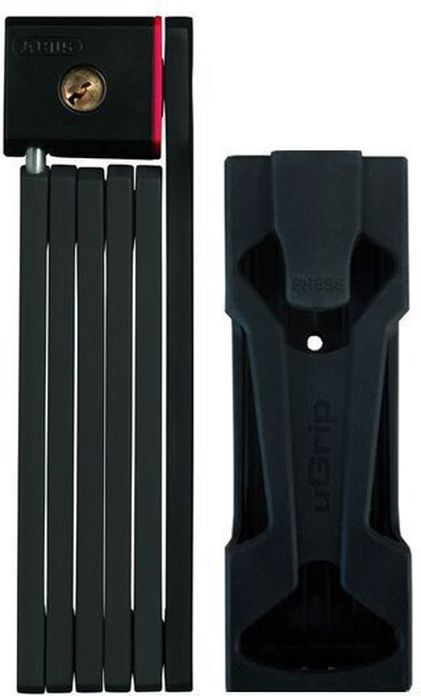 Велозамок Abus Bordo uGrip 5700/80, с ключами, цвет: черный112737_ABUSНадежный сегментный замок Abus Bordo uGrip объединяет лучшие качества U-замков и цепей - надежность и гибкость. Стальные пластины соединены шарнирами и двигаются относительно друг друга. Достаточная длина для крепления к неподвижному объекту, а также нескольких велосипедов между собой.5-мм стальные пластины соединены шарнирами и движутся относительно друг друга.Замок компактно складывается для удобной транспортировки в чехле на раме.Чехол в комплекте.Ккрепление.Вес: 830 г.Длина: 80 см.Толщина: 5 мм.Тип замка: Английский односторонний.Количество ключей в комплекте: 2 шт.