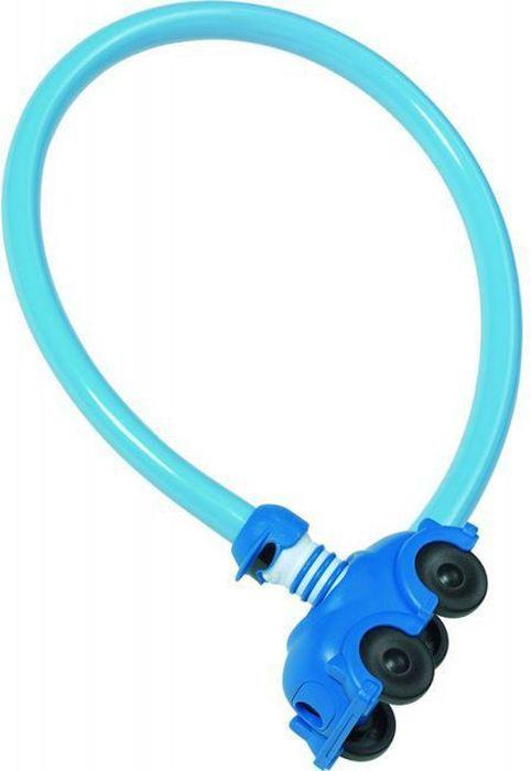 Велозамок Abus My First 1505/60, с ключами, цвет: голубой433023_ABUSЗамок велосипедный Abus My First выполнен в пластиковом чехле в виде машинки (специально разработанный дизайн для детей).У замка автоматическое закрывание. Рекомендуется для использования в условиях с низким риском хищения. Элементарный в использовании, яркий, с замком в виде игрушки - к этому велозамку идет еще и стильный чехол. Тип: трос с ключом (Kid Locks).Материал: Сталь в ПВХ оболочке.Длина(мм): 600.Толщина троса(мм): 4.Ключ: 2 штуки.Уровень защиты: 1 (стандарт).Вес: 300 г.Цвет: голубой.Только для детей!Гид по велоаксессуарам. Статья OZON Гид