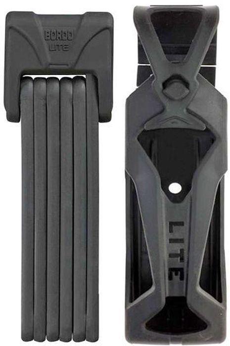 Велозамок Abus Bordo Lite 6050/85, с ключами, цвет: черный велозамок
