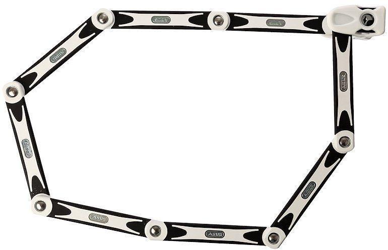 Велозамок Abus Bordo BIG 6000/120, с ключами, цвет: белый541285_ABUSAbus Bordo 6000 - это cегментный замок из стальных пластин на подвижных шарнирах, который позволяет сочетать надежность U-замка и удобство цепи. Именно благодаря такому компромиссу замок получил огромную популярность в велосипедистов.Особенности: шесть стальных пластин толщиной 5 мм.Гибкое соединение пластин обеспечивает компактное транспортировки.Пластины и корпус замка изготовлены из специальной закаленной стали.Пластины надежно соединены специальными шарнирами.Цилиндр замка высочайшего качества для надежной защиты против интеллектуальных методов взлома. Полимерное покрытие пластин для защиты краски вашего велосипеда.Легкий чехол замка фиксируется на место флягодержателя. Размеры: длина: 1200 мм, толщина: 5 мм.Гид по велоаксессуарам. Статья OZON Гид