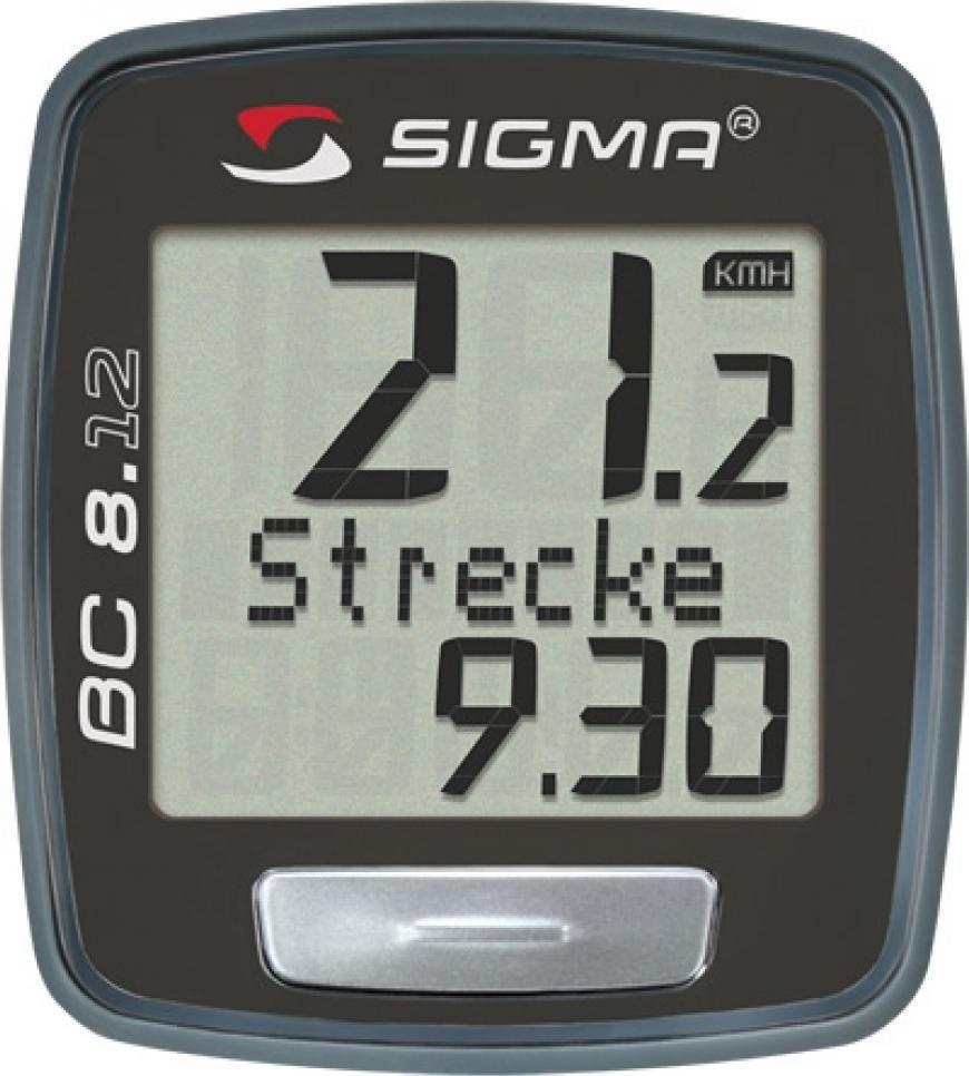 Велокомпьютер Sigma BC 8.12 Topline, 8 функцийSIG_08120Модель для тех, кто хочет сравнивать свою скорость в разные промежутки времени. Отлично подойдет для начинающих!Функции: - текущая скорость - средняя скорость - максимальная скорость - дистанция поездки - общий путь (не показывается во время движения) - время в пути - общее время за все поездки (не показывается во время движения) - часыХарактеристики: - Автоматическое включение/выключение при езде и остановке - Влагозащищен - Есть возможность подключения к компьютеру с помощью дополнительных аксессуаров