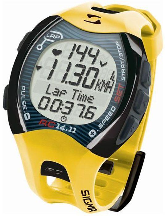 """Пульсометр Sigma """"14.11"""", c шагомером, цвет: желтый"""