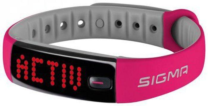 Фитнес браслет Sigma 22912 Activo, цвет: розово-серыйSIG_22912Спортивный браслет Activo от компании Sigma 22912 Activo предназначен для тех, кто хочет держать под контролем ежедневную физическую активность. Дисплей светодиодный, красные символы легко читаемы и различимы на темном экране в любую погоду и при любом освещении. Направление текста меняется в зависимости от положения браслета и вращается на 180 градусов. Гаджет считывает вашу активность в течение дня и передает данные по Bluetooth в приложением от производителя Sigma на вашем смартфоне, где вы и можете отслеживать статистику вашей активности.Спортивный браслет Sigma 22912 Activo работает от перезаряжаемой аккумуляторной батареи. Зарядка производится через USB. Время полной зарядки занимает около 2 часов. Заряженного аккумулятора хватает на 8 дней автономной работы. Состояние заряда батареи можно увидеть как на дисплее трекера, так и в приложении. Владельцы браслета могут во время мытья рук не снимать Sigma Activo, характеристики водонепроницаемости соответствуют стандарту IPX7. Трекер защищен от временного контакта с водой, однако время погружения не должно превышать 30 минут.Общие характеристики:-Тип: фитнес-браслет;-Поддержка платформ: Android, iOS;-Конструкция и внешний вид;-Материал браслета/ремешка: силикон;-Цвета браслета/ремешка: черный, розовый, голубой;-Регулировка длины браслета/ремешка: есть;-Экран;-Наличие экрана: есть;-Тип: светодиодный;-Мультимедийные возможности;-Разъем для наушников: отсутствует;-Связь;-Мобильный интернет: отсутствует;-Интерфейсы: Bluetooth;-Дополнительная функциональность;-Мониторинг: калорий, физической активности, сна;-Датчики: акселерометр;-Питание;-Аккумулятор: несъёмный Li-Ion;-Емкость аккумулятора: 200 мА*ч;-Время работы в активном режиме: 120 ч;-Время зарядки: 180 мин.