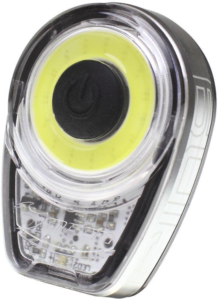 Фонарь передний Moon Ring, 1 диод, 6 режимов, USBWP_Ring_WФонарь передний Moon Ring имеет 1 диод, 6 режимов и USB.Особенности: 1 плата из 15 диодов расположенных кругом, сверх яркое белое свечение- Алюминиевый корпус с отводом тепла- Литий Полимер аккумулятор (3.7V 280mAh)- USB порт- 6 режимов: Стандарт / Высоко / Максимум / 20% Вспышка /100% Вспышка /Стробоскоп- Быстросъемное крепление RB-22 (установка на любой руль)- 2 O-rings для крепления :RS-G (для 20-35mm диаметра); RS-H (для 35-52mm диаметра)- Индикатор разряда, зарядки и полной зарядки аккумулятора- Функция автоматического отключения при полной зарядке- Боковая заметность- Влагозащищенный (IPX 4)- Возможность крепления на ремни (рюкзаки, багажные сумки и т.д)