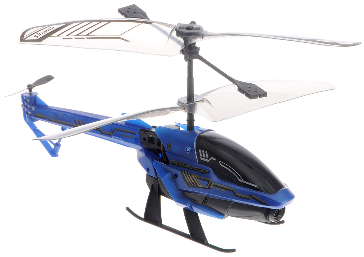 Silverlit Вертолет на инфракрасном управлении Spy Cam 3 цвет синий самолеты и вертолеты silverlit вертолет 3 х канальный heli sniper 2 со стрелами зеленый