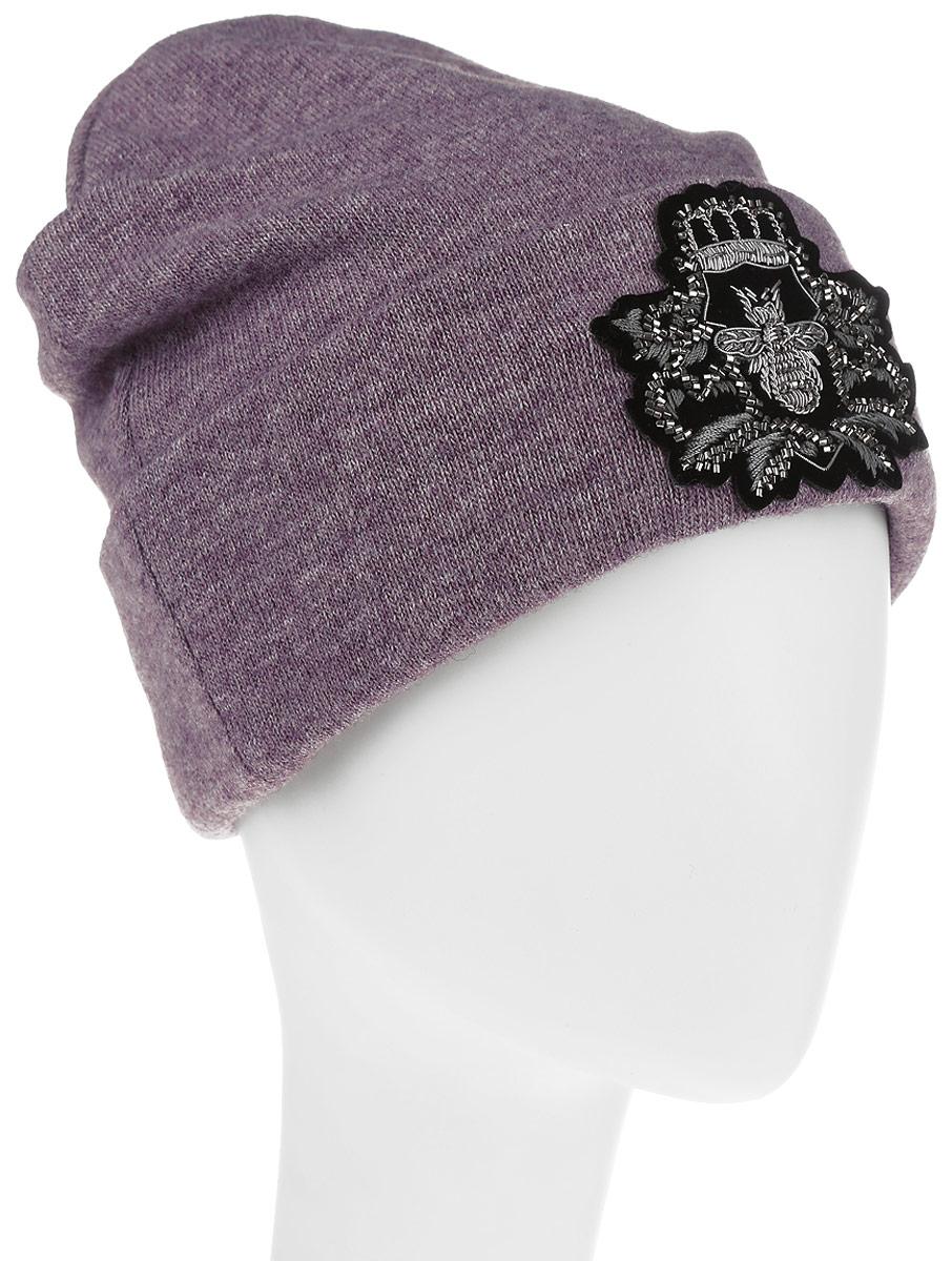 Шапка женская Level Pro, цвет: сиреневый. 999342. Размер 56/58999342Женская шапка Level Pro изготовлена из комбинации вискозы, акрилика, шерсти, эластана и кашемира, подкладка - из флиса. Уважаемые клиенты!Размер, доступный для заказа, является обхватом головы.