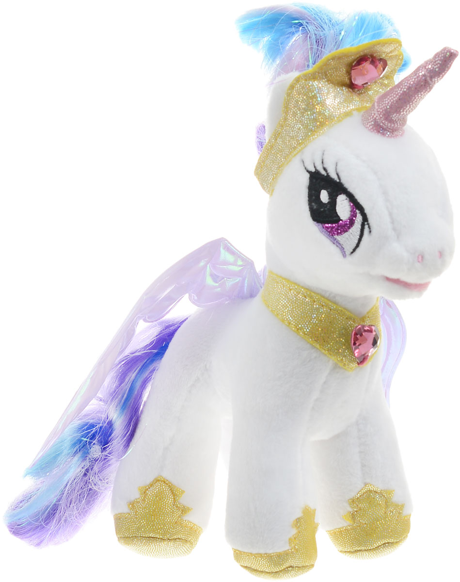 Мульти-Пульти Мягкая озвученная игрушка Пони Принцесса Селестия 18 см мульти пульти мягкая игрушка принцесса луна 18 см со звуком my little pony мульти пульти