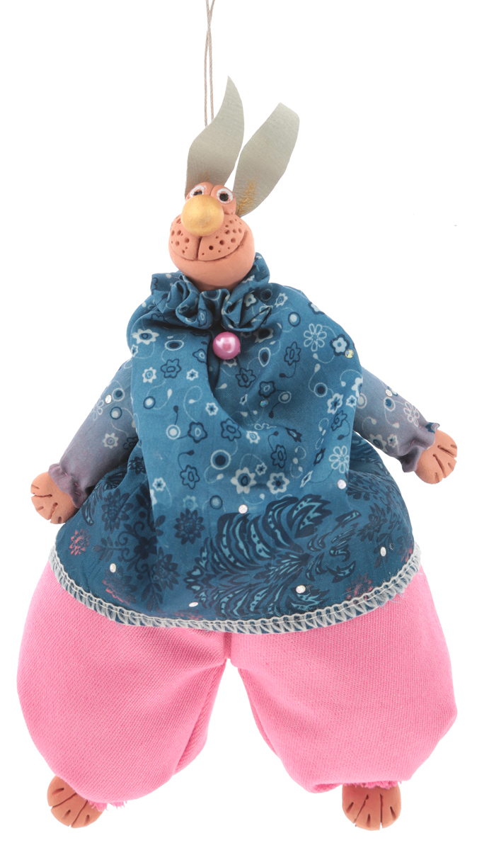 Подвесная кукла YusliQ Чудо-зайка. Авторская работа. Kyrk07 rk 646 кукла подвесная матрена 1105874