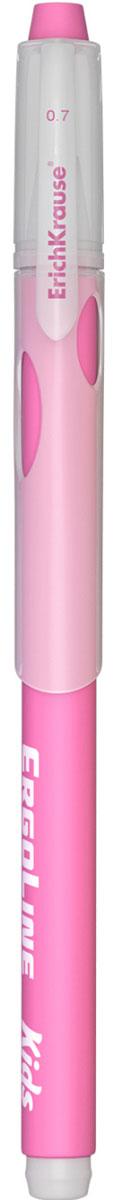 Erich Krause Ручка шариковая ErgoLine Kids цвет розовый 4154041540_розоваяЭргономичная шариковая ручка Erich Krause ErgoLine Kids станет незаменимым помощником в учебе или работе.Ручка с уникальной технологией Ultra Glide, обеспечивающей великолепное мягкое письмо, позволяет долго и легко писать практически без усилий. Треугольный корпус ручки со специальными выемками обеспечивает удобный захват и препятствует скольжению пальцев при письме. Товар предназначен для письма на бумаге.Рекомендована для дошкольников и школьников младшего возраста.Диаметр шарика 0,7 мм.