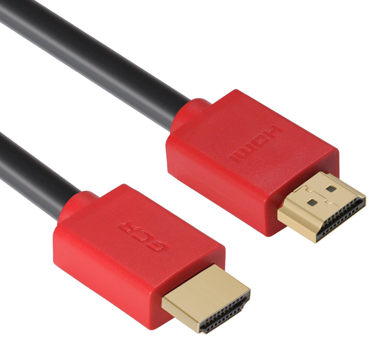 Greenconnect Russia GCR-HM451, Black Red кабель HDMI v 2.0 (5 м)GCR-HM451-5.0mКабель HDMI v 2.0 Greenconnect Russia GCR-HM451 - отличное решение для подключения компьютера, игровых консолей, DVD и Blu-ray плееров, аудио-ресиверов к телевизору или дополнительному монитору. Кабель HDMI поддерживает как стандартные, так и высокие разрешения самых современных моделей телевизоров.Кабель оснащен двунаправленным каналом для передачи сетевых данных, который подходит для использования IP-приложениями. Канал Ethernet позволяет нескольким устройствам работать в сети Ethernet без необходимости подключения дополнительных проводов, а также напрямую обмениваться контентом. Наличие обратного канала аудио устраняет необходимость в отдельном проводе для передачи звука в ресивер с телевизора или другого устройства, которое является одновременно источником аудио и видео.