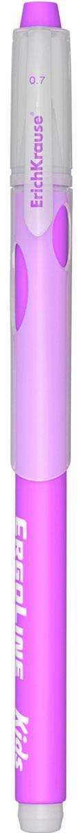 Erich Krause Ручка шариковая ErgoLine Kids цвет фиолетовый 4154041540Эргономичная шариковая ручка Erich Krause ErgoLine Kids станет незаменимым помощником в учебе или работе.Ручка с уникальной технологией Ultra Glide, обеспечивающей великолепное мягкое письмо, позволяет долго и легко писать практически без усилий. Треугольный корпус ручки со специальными выемками обеспечивает удобный захват и препятствует скольжению пальцев при письме. Товар предназначен для письма на бумаге.Рекомендована для дошкольников и школьников младшего возраста.Диаметр шарика 0,7 мм.