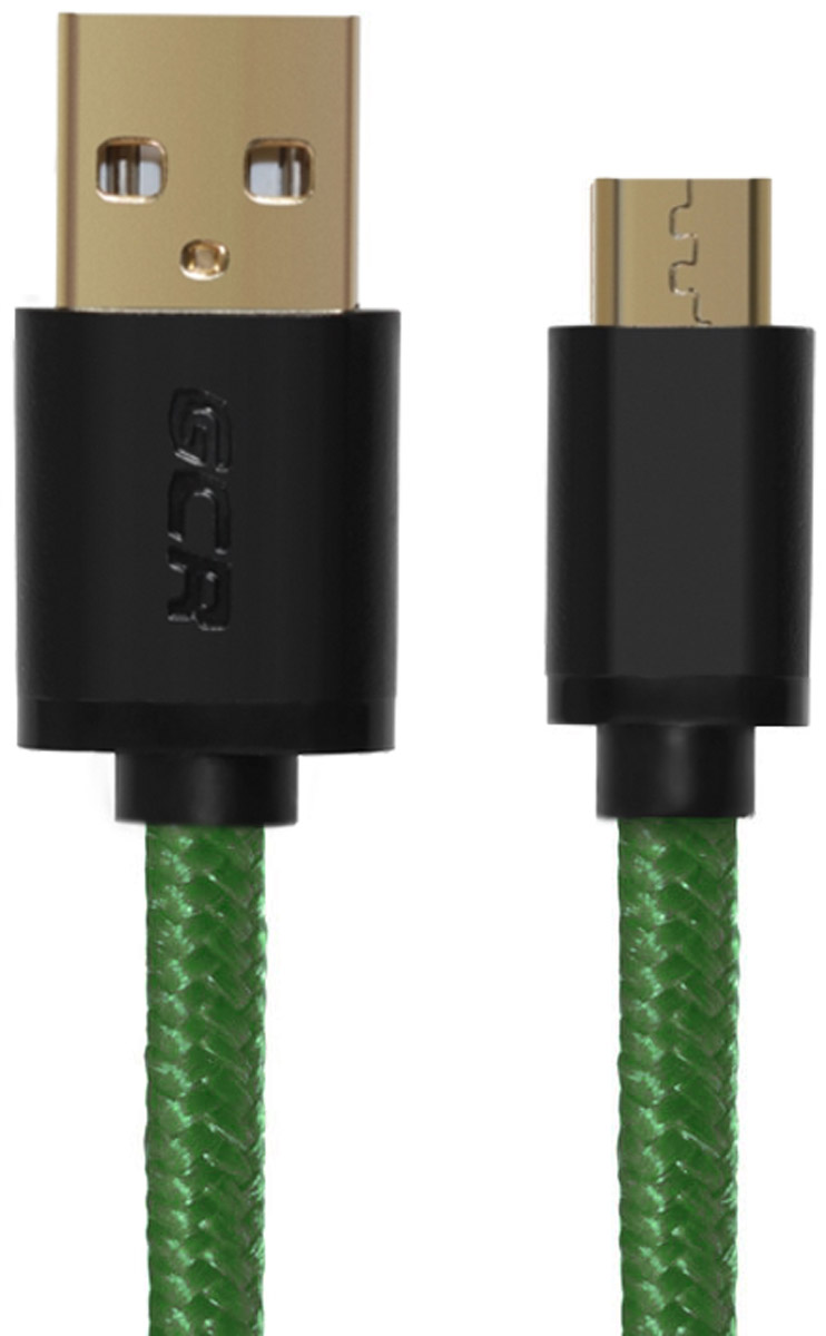 Greenconnect Russia GCR-UA11MCB6-BB2S-G, Green Black кабель microUSB-USB (0,5 м) greenconnect russia gcr uec3m2 bd2s transparent black удлинитель активный usb 2 0 3 м