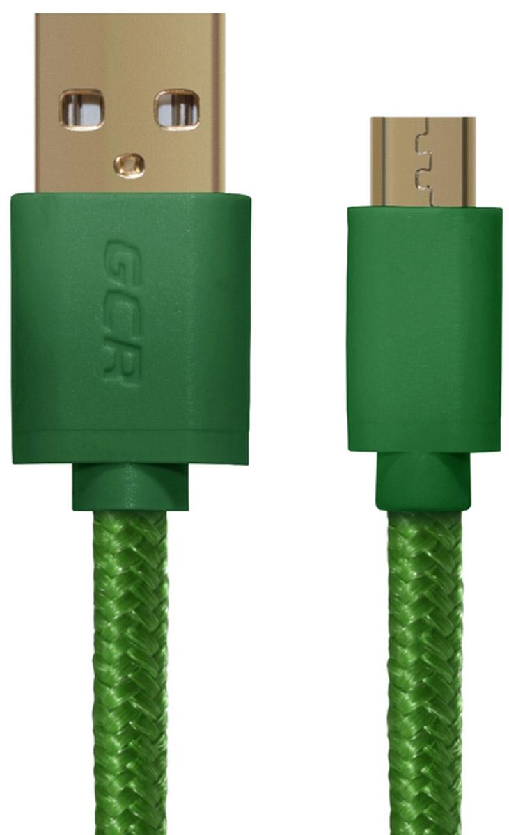 Greenconnect Russia GCR-UA11MCB5-BB2SG, Green кабель microUSB-USB (1 м)GCR-UA11MCB5-BB2SG-1.0mКабель Greenconnect Russia GCR-UA11MCB5-BB2SG позволяет подключать мобильные устройства, которые имеют разъем microUSB к USB разъему компьютера. Подходит для повседневных задач, таких как синхронизация данных и передача файлов. Экранирование кабеля позволяет защитить сигнал при передаче от влияния внешних полей, способных создать помехи.