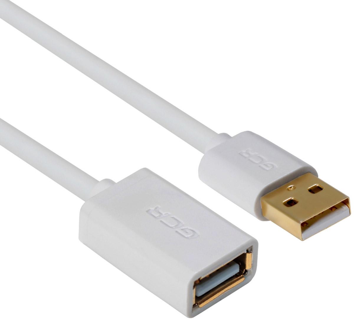 Greenconnect Russia GCR-UEC5M-AAG, White удлинитель USB 2.0 (1 м)GCR-UEC5M-AAG-1.0mКабель-удлинитель USB 2.0 Greenconnect Russia GCR-UEC5M-AAG позволит увеличить расстояние до подключаемого устройства. Может быть использован с различными USB девайсами. Экранирование кабеля защищает сигнал при передаче от влияния внешних полей, способных создать помехи.